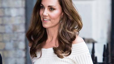 Kate Middleton Pairs Her Off-The-Shoulder Dress With A Pair Of Very Unexpected Shoes