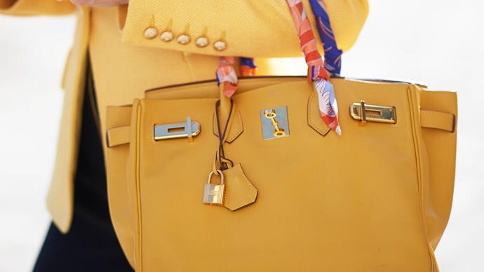yellow Hermes Birkin