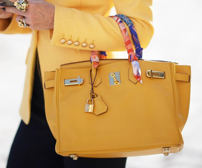 yellow Hermes Birkin