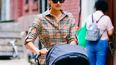 Irina Shayk's Version Of 'Mummy And Me' Dressing Includes Vintage Burberry Check