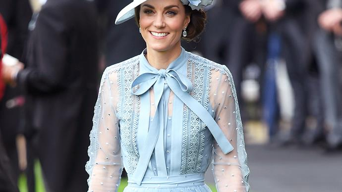 Kate Middleton wearing Elie Saab at Royal Ascot 2019.