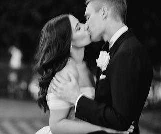 Wedding kiss.