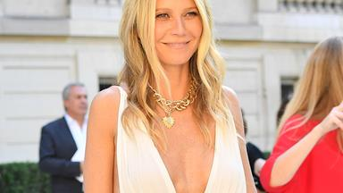 Gwyneth Paltrow Just Wore A Plunging White Dress To The Valentino Show