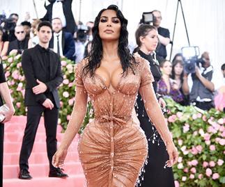 Kim Kardashian at the Met Gala 2019.