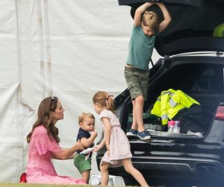 Kate Middleton and her children attend the polo in July 2019.