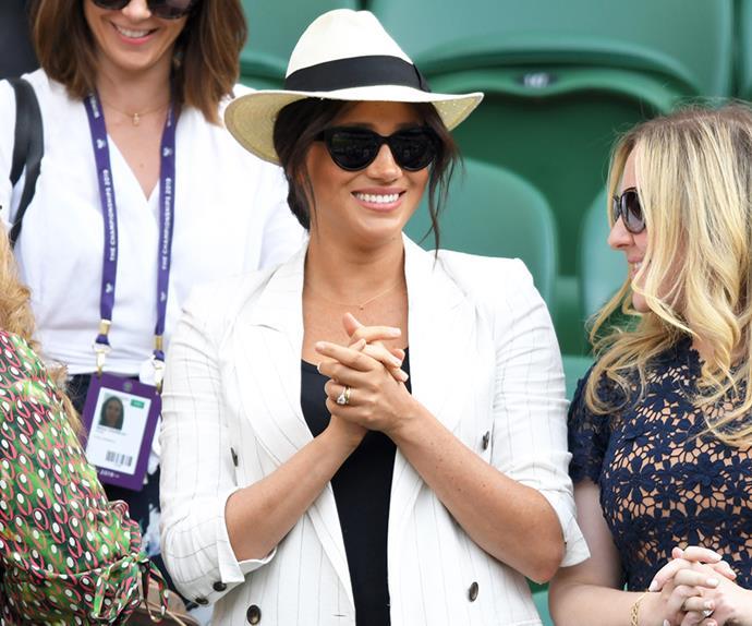 Meghan Markle attending Wimbledon 2019.