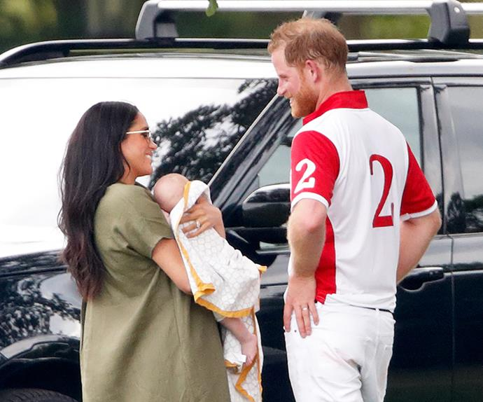 Meghan Markle and Prince Harry at the 2019 polo.