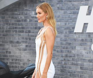 Rosie Huntington-Whiteley attends the premiere of 'Hobbs and Shaw.'