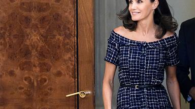 Queen Letizia Makes A Statement In A $49.95 ZARA Dress