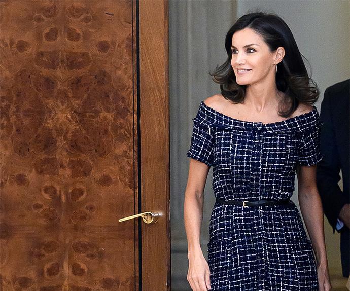Queen Letizia Makes A Statement In A $49.95 ZARA Dress