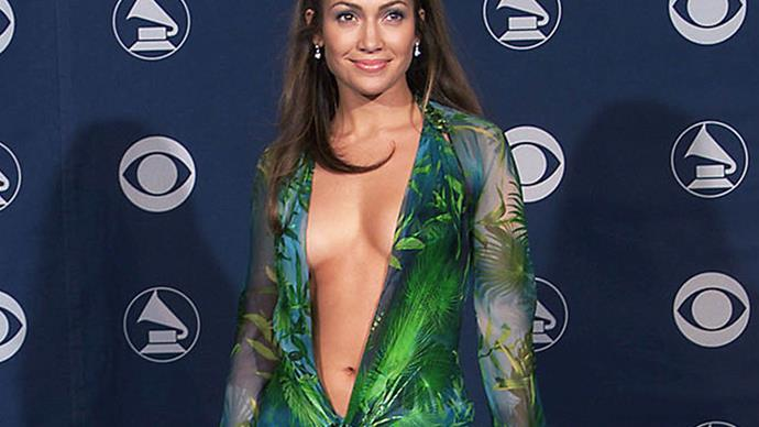 Jennifer Lopez' in the Green Versace dress at the 2000 Grammys.