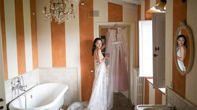 BAZAAR Bride: Ksenia and Samuel's Intimate Italian Adventure