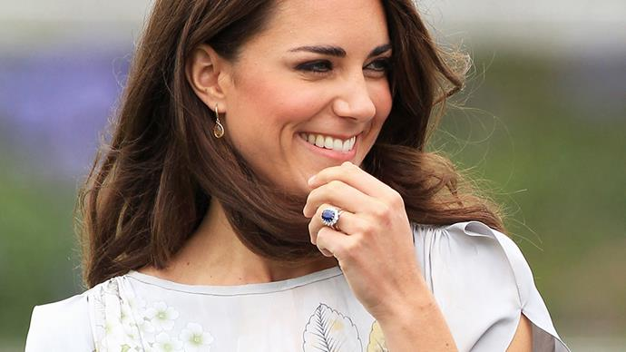 Kate Middleton's engagement ring.