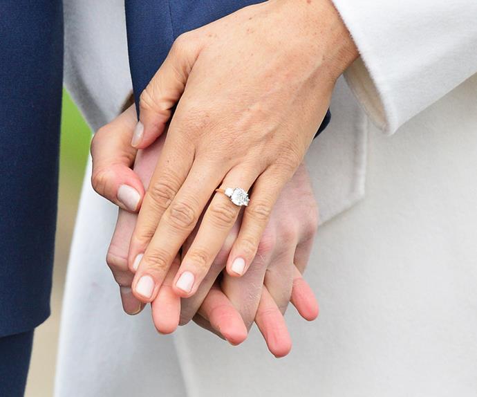 Meghan Markle's engagement ring.