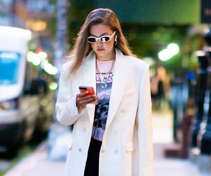 Gigi Hadid street style.