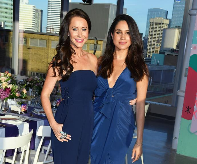 Jessica Mulroney and Meghan Markle.