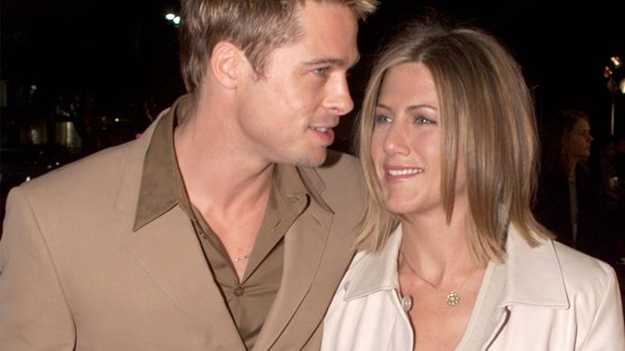 Brad Pitt and Jennifer Anniston.