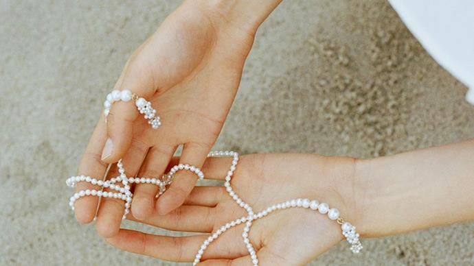 Pearl jewellery by Sophie Bille Brahe.