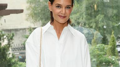 Katie Holmes Just Made Us All Want A Slinky Cardigan