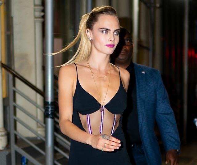 Cara Delevingne Just Updated The Classic LBD With A Crystal-Encrusted Corset
