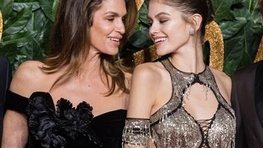 Kaia Gerber Wears One Of Cindy Crawford's Most Iconic Looks For Her 18th Birthday