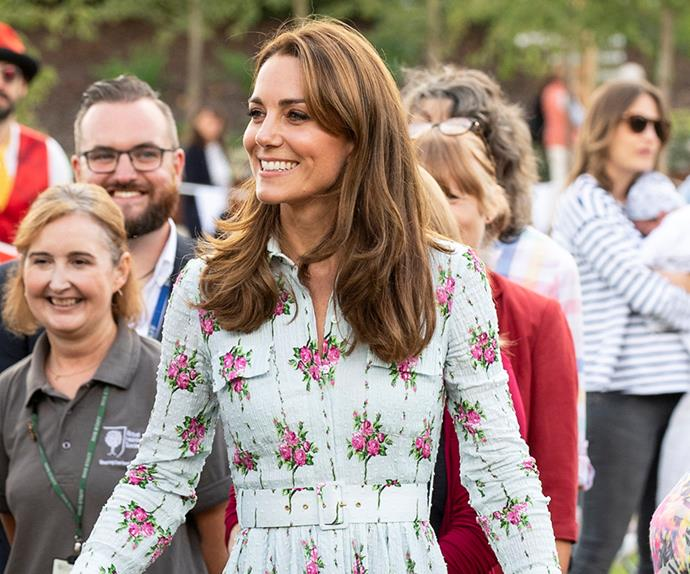 Kate Middleton wearing an Emilia Wickstead dress.