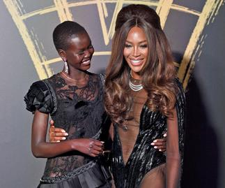 Adut Akech and Naomi Campbell at Fashion For Relief 2019.