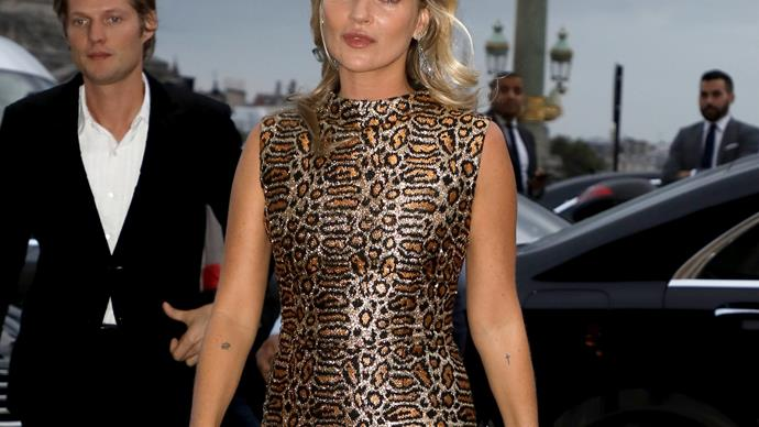 Kate Moss leopard print.