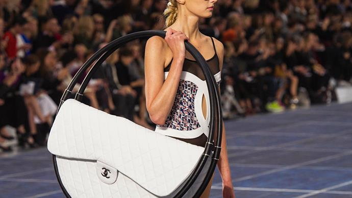 Chanel hula-hoop bag.