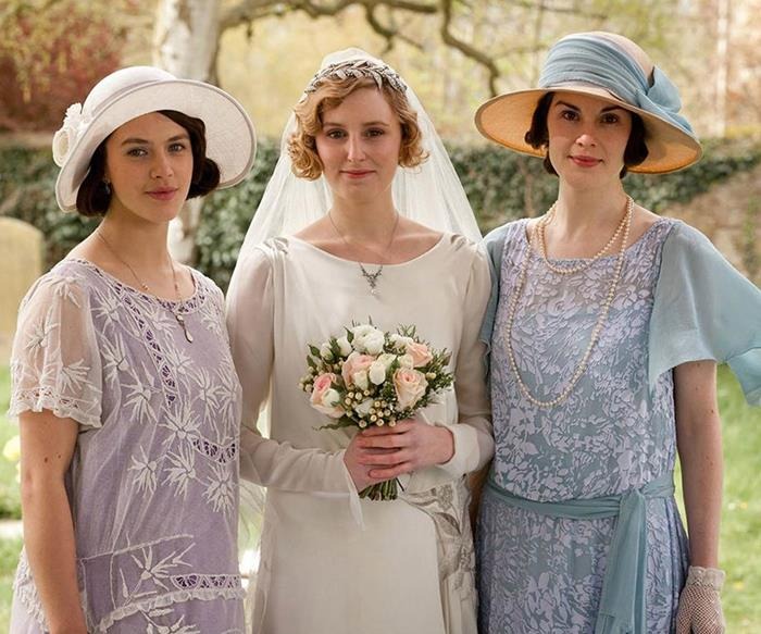 Downton Abbey women.