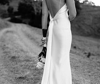 Beach wedding slip dress.