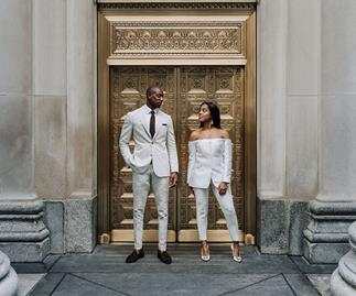 BAZAAR Bride: Chanel and Sheldon's Sophisticated Chicago Affair