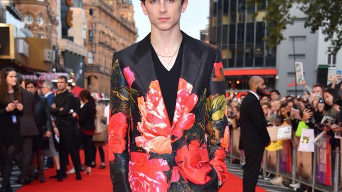 Timothee Chalamet red carpet fashion
