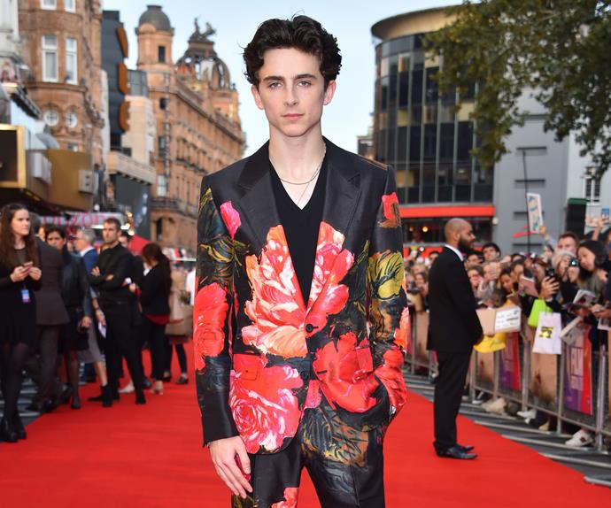 Timothee Chalamet red carpet fashion