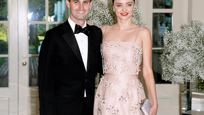 Miranda Kerr and Evan Spiegel.