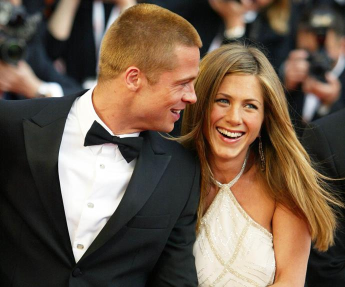 Brad Pitt and Jennifer Aniston.