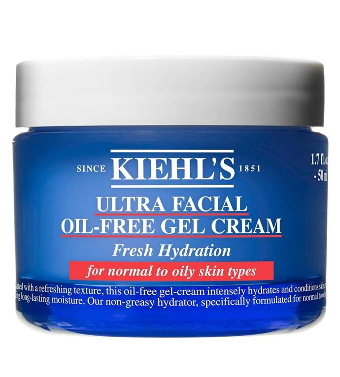 "**Ultra Facial Oil-Free Gel Cream by Kiehl's** <br><br> Kiehl's Ultra Facial Cream is already a popular product, but the Oil-Free Gel Cream variant is better suited for anyone suffering from temperamental facial oiliness. <br><br> *$50 for 50mL at [Kiehl's](https://www.kiehls.com.au/category/moisturisers/ultra-facial-oil-free-gel-cream/3605975080896.html|target=""_blank""