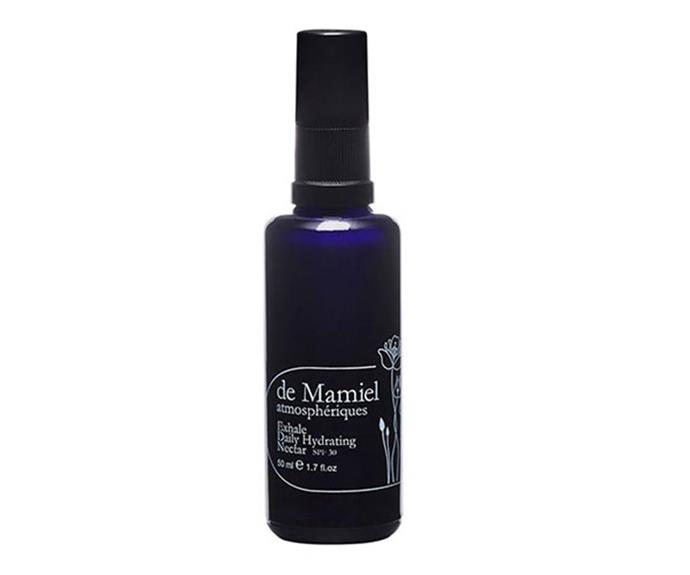 """**de Mamiel Exhale Daily Hydrating Nectar SPF 30, $175 at [Onda Beauty](https://ondabeauty.com.au/products/exhaledailyhydratingnectarspf30?_pos=2&_sid=232d8c38e&_ss=r