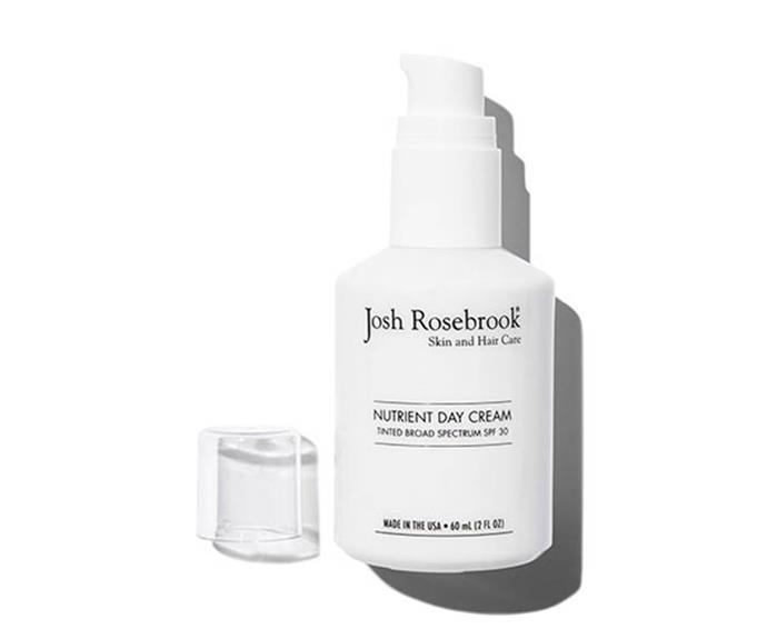 """**Josh Rosebrook Nutrient Day Cream SPF 30 Tinted, $83-$143 at [Organic Beauty Co.](https://www.organicbeautyco.com.au/collections/josh-rosebrook/products/josh-rosebrook-nutrient-day-cream-spf-30-tinted?variant=30308004812