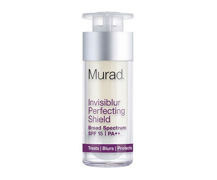 """**Murad Invisiblur Perfecting Shield SPF 15, $105 at [Sephora](https://www.sephora.com.au/products/murad-invisiblur-perfecting-shield-spf-15/v/default