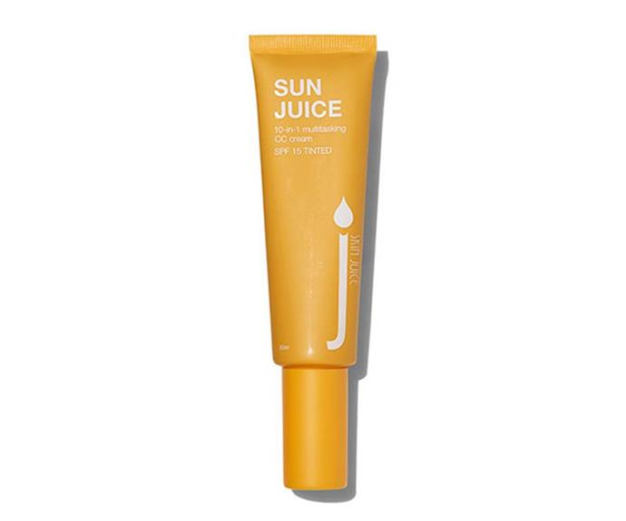 """**Skin Juice Sun Juice Tinted Moisturising SPF 15 CC Cream, $49 from [Onda Beauty](https://ondabeauty.com.au/collections/frontpage-1/products/sunjuicetintedmoisturisingspf15