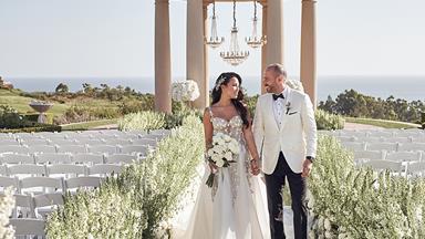 BAZAAR Bride: Erica And Mike's Lavish Hilltop Celebration