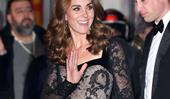 Kate Middleton Steps Out In A Daring Sheer Gown For The Royal Variety Performance