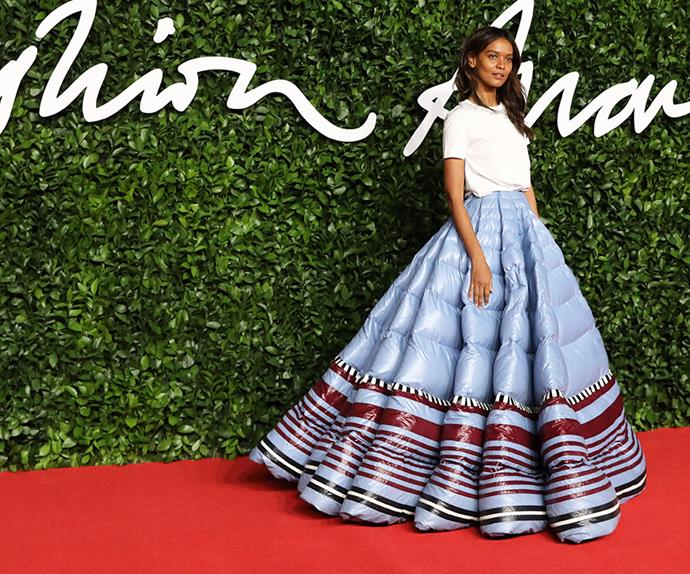 Liya Kebede at the 2019 British Fashion Awards.