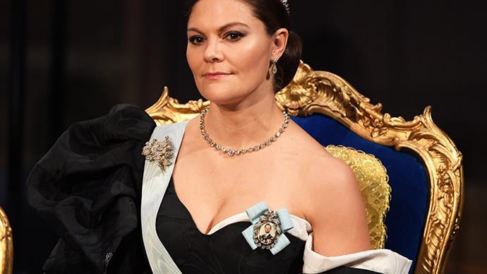 Crown Princess Victoria at the 2019 Nobel Prize ceremony.