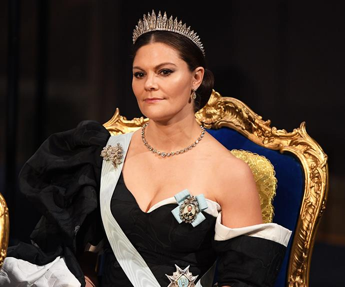 Crown Princess Victoria at the 2019 Nobel Prize ceremony.