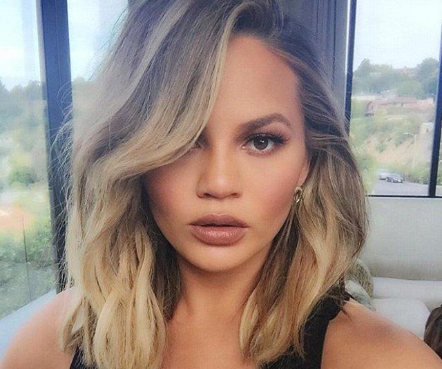 Chrissy Teigen Thinks Her New Haircut Makes Her Look Like Melania Trump