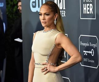Jennifer Lopez at the Critics' Choice Awards 2020.