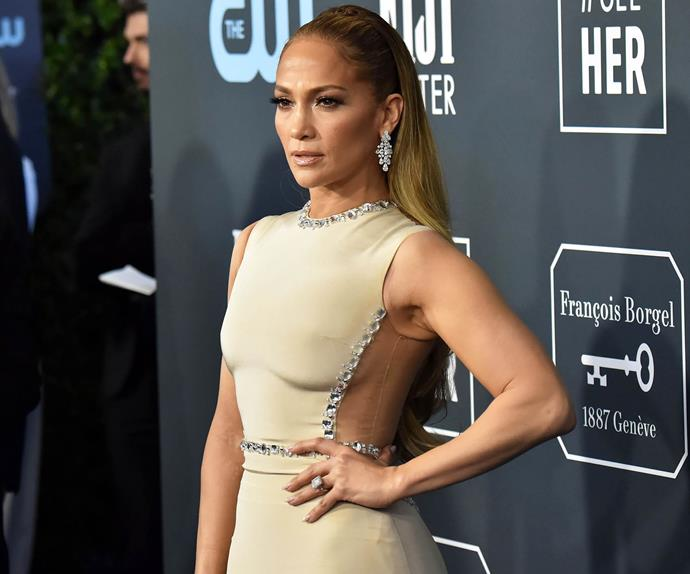 Jennifer Lopez at the Critics' Choice Awards 2020.