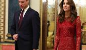 Kate Middleton Wears A Glittery Red Dress For Buckingham Palace Reception